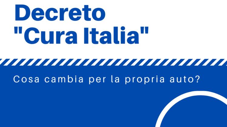 """DECRETO """"CURA ITALIA"""": COSA CAMBIA PER LA PROPRIA AUTO"""